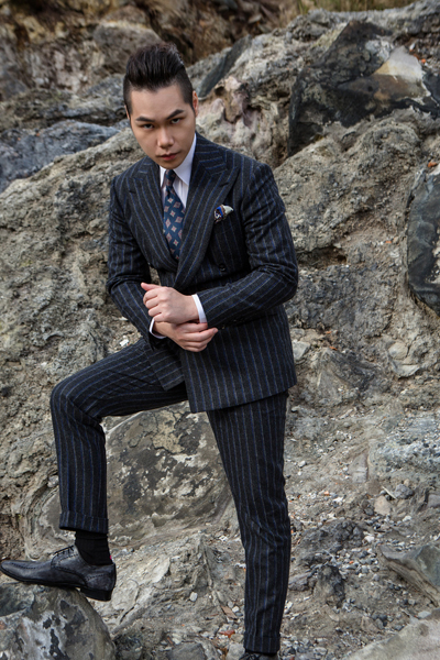 TSFM 力上西服 VBC Stripe Double Breasted 條紋雙排釦 SERÀ FINE SILK Spacaa Neapolis (2)