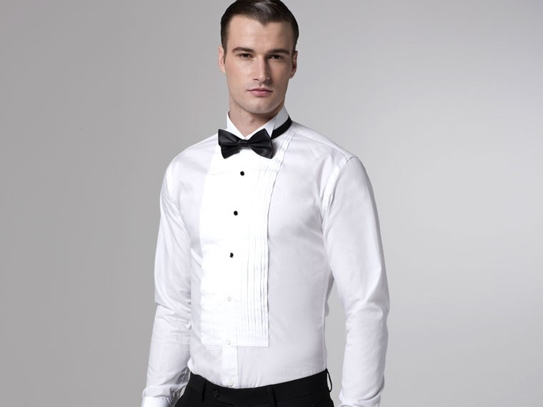 tuxedo shirt studs how to wear