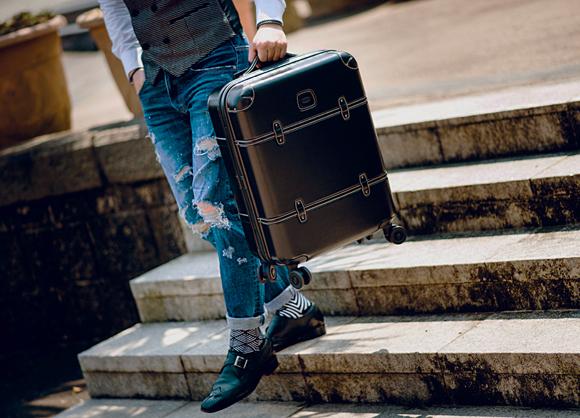 Brics Bellagio Spinner Trunk dot wiastcoat jeans monk shoes men fashion (2)