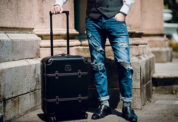 Brics Bellagio Spinner Trunk dot wiastcoat jeans monk shoes men fashion (3)