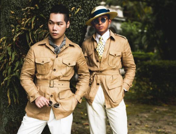機能和修飾兼具的狩獵夾克(Safari Jacket)
